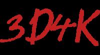 3D4K logo