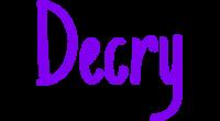 Decry logo
