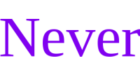 Never logo