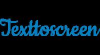 Texttoscreen logo