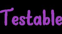 Testable logo