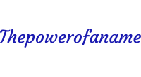 Thepowerofaname logo